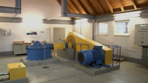 Wasserkraftwerk Turbinenraum